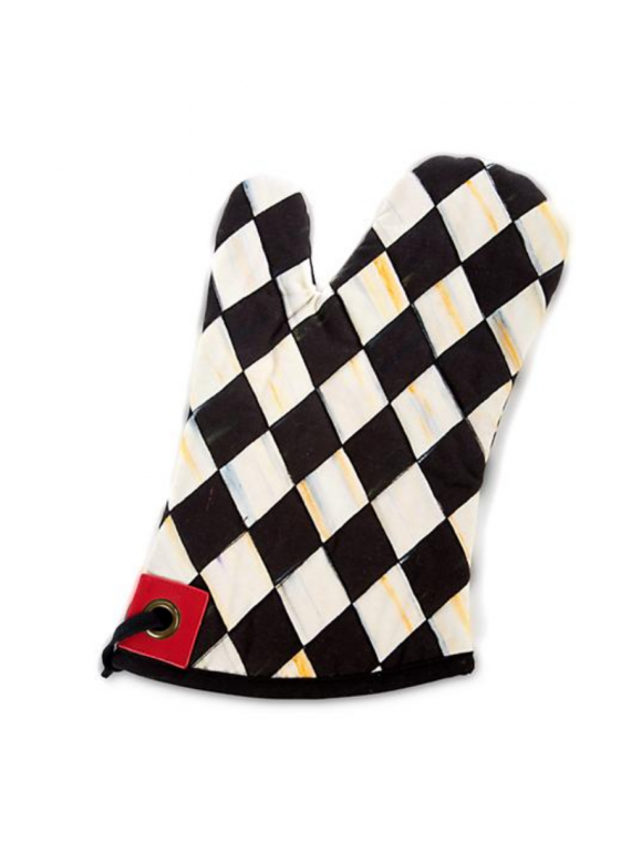 courtly check harlequin oven mitt