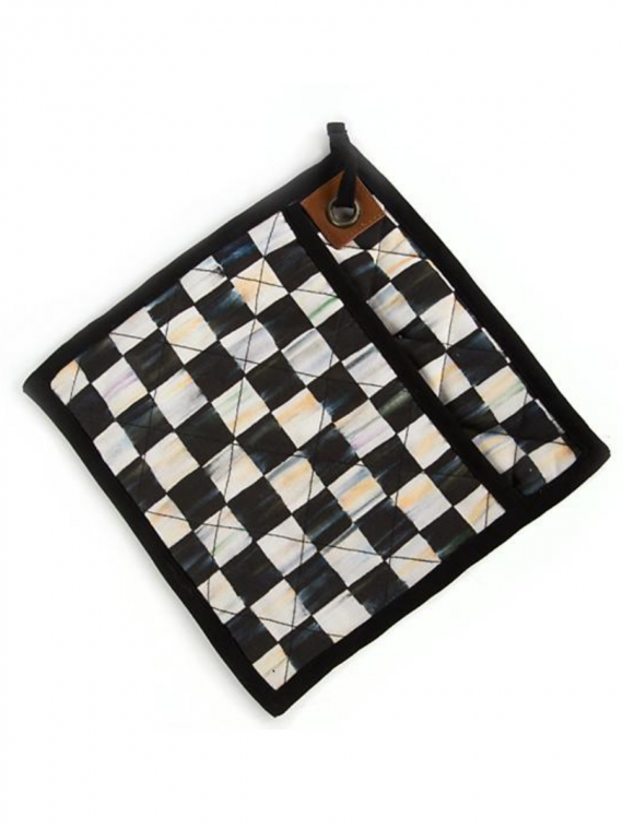 L courtly check bistro pot holder