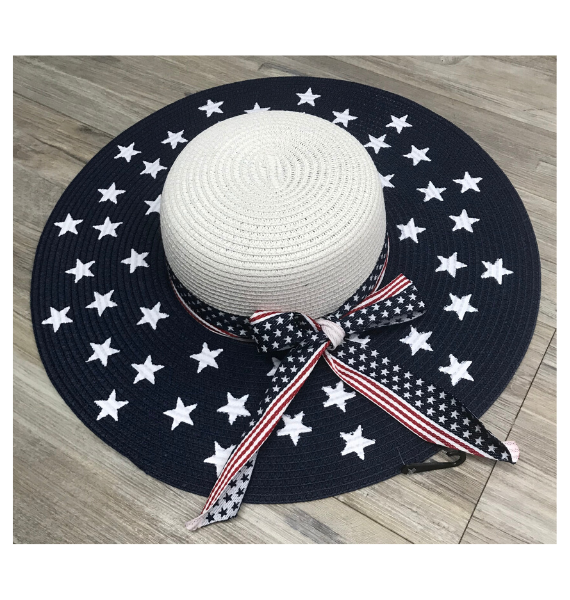 HT USA FLOPPY HAT WITH BOW