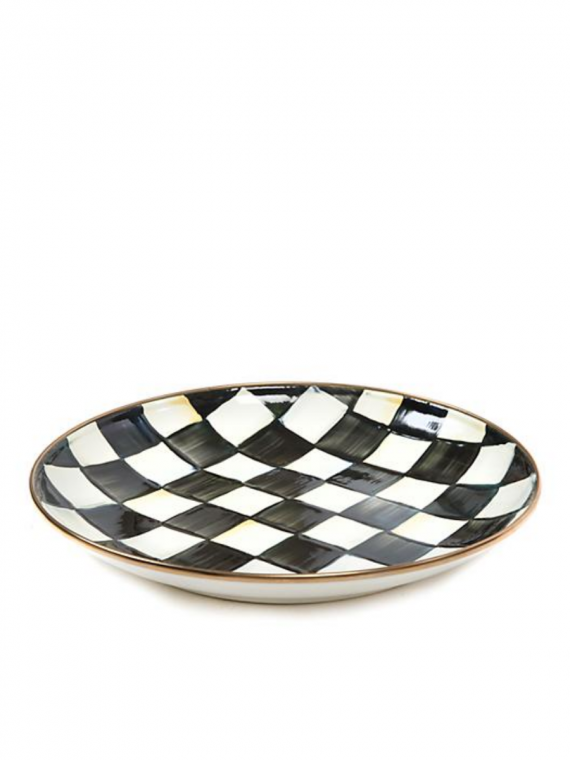 courtly check coupe dinner plate