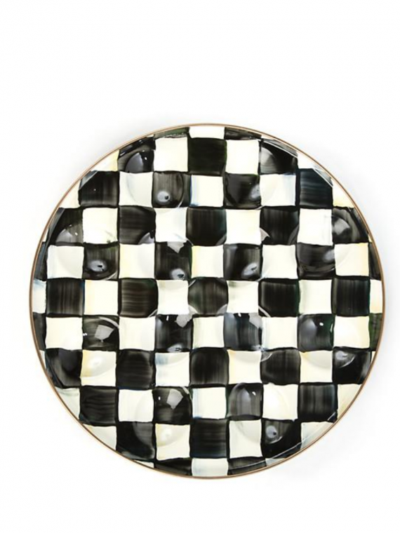 courtly check deviled egg plate