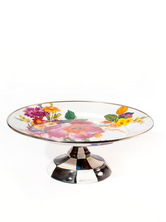 flower market pedestal platter small