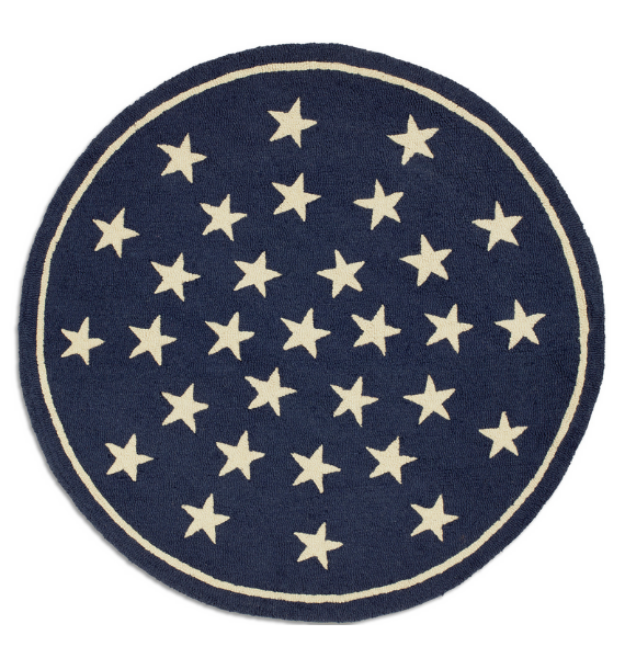 BLUESTARS BLUE STARS ROUND RUG