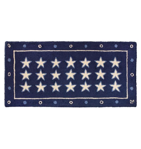 STARSONBLUE BLUE STARS RUG