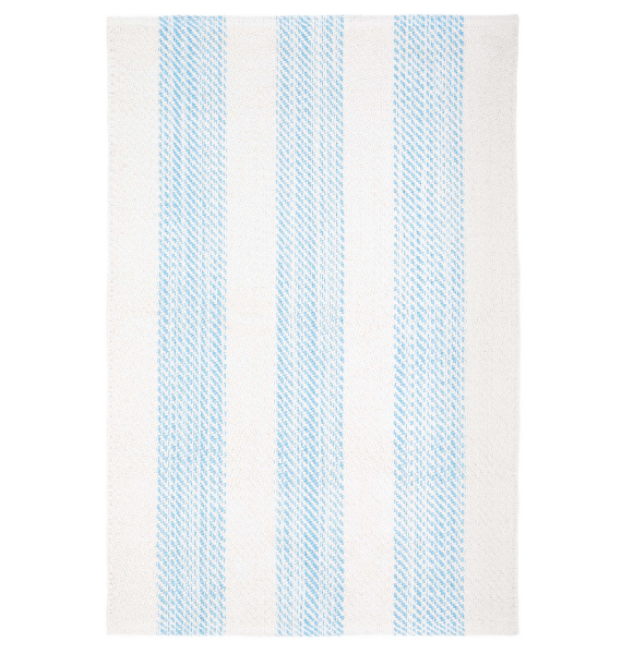 DA CRUISE STRIPE BLUE WOVEN COTTON RUG
