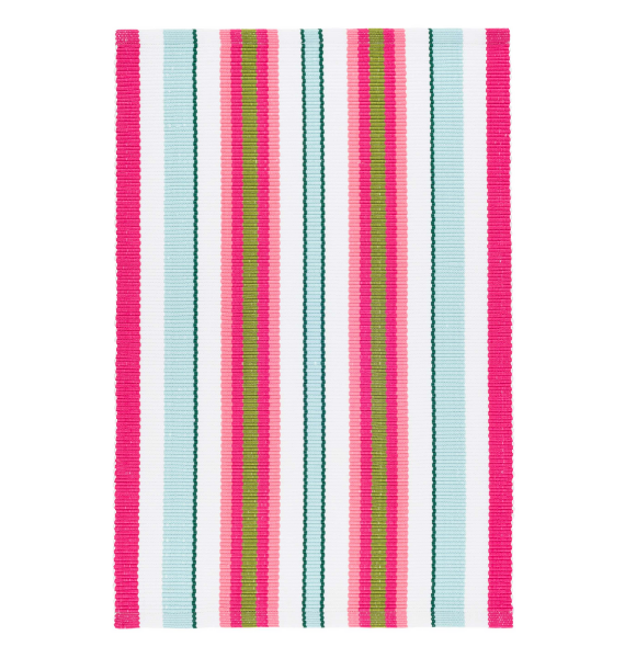 DA WATERMELON STRIPE INDOOR OUTDOOR RUG