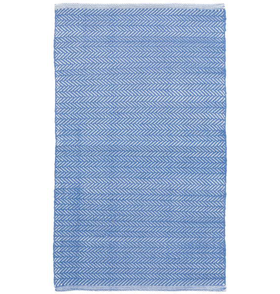 DA HERRINGBONE FRENCH BLUE INDOOR OUTDOOR