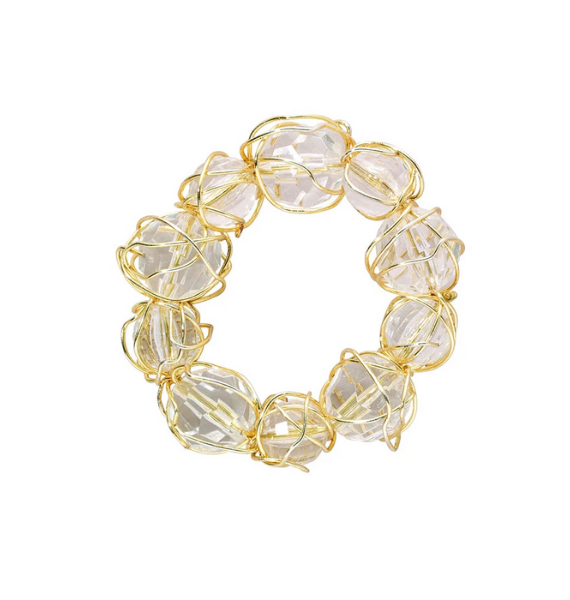GOLD BAUBLE NAPKIN RING