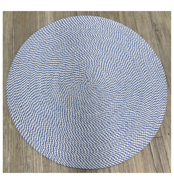H COLW BRAIDED PLACEMAT COOL BLUE AND WHITE