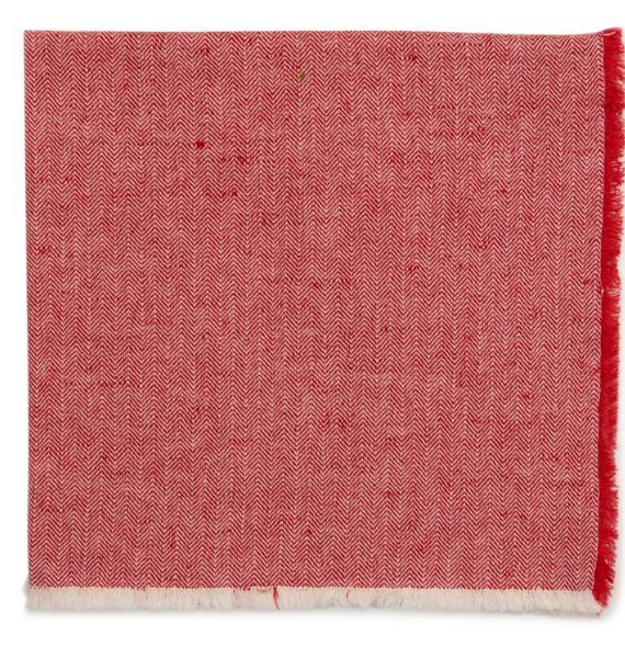 HERRINGBONE FRINGE RED