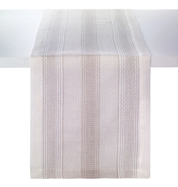 HONEYCOMB BEIGE TABLE RUNNER