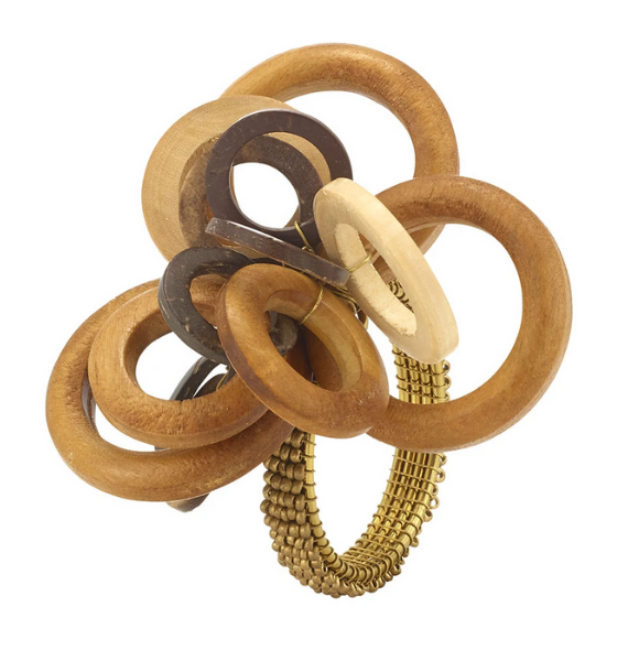 INTERLOCKING WOOD NAPKIN RING