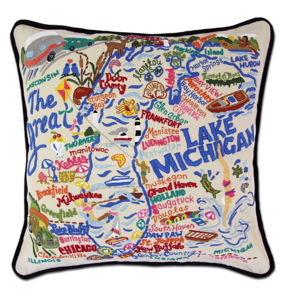 LAKEMI LAKE MICHIGAN PILLOW