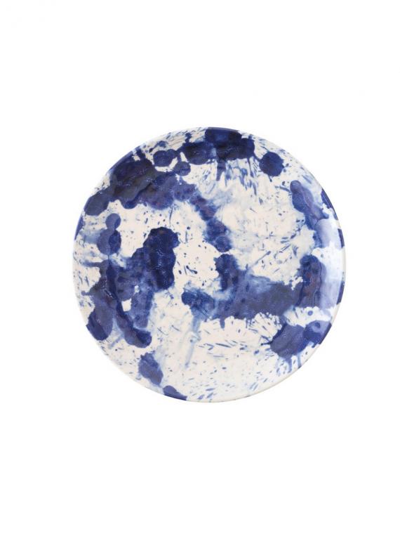 MA blue splatter salad plate