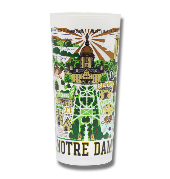 ND GLASS NOTRE DAME DRINKING GLASS