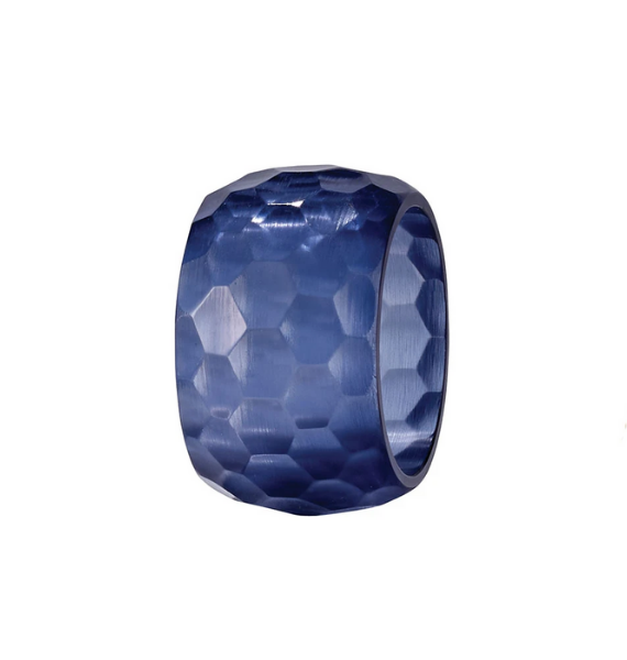 OPAQUE PRISIM NAVY NAPKIN RING