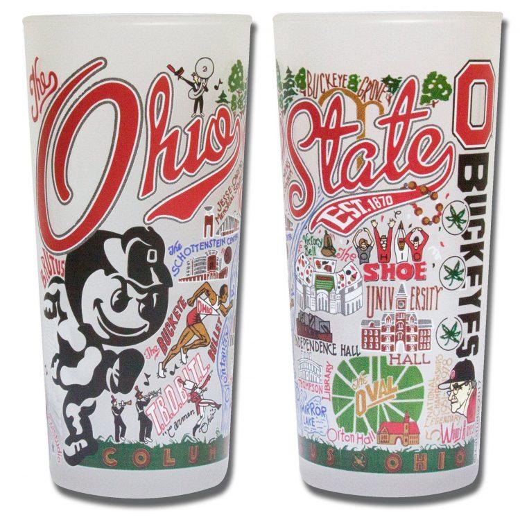 ohio state university collegiate glass glass catstudio x@x