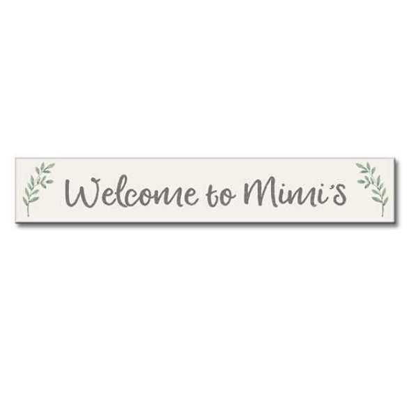 wecome to mimis sign