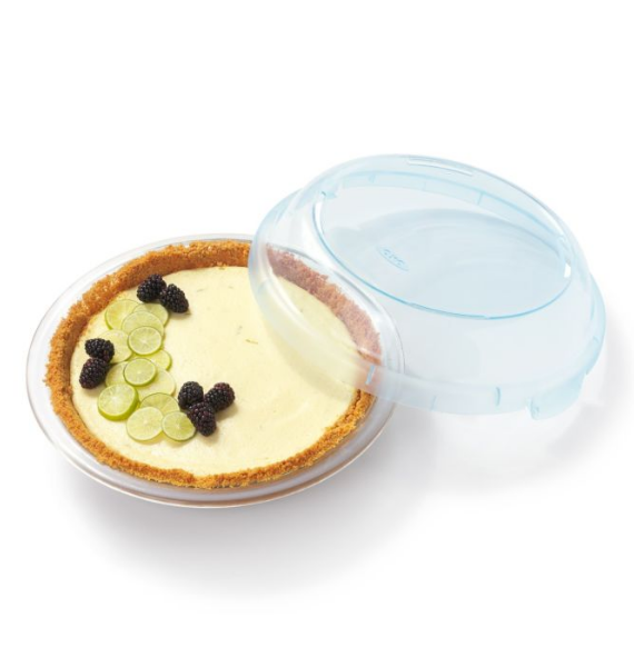 INCH GLASS PIE PLATE WITH LID