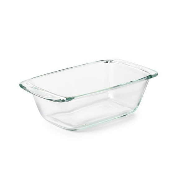 GLASS BREAD AND LOAF DISH