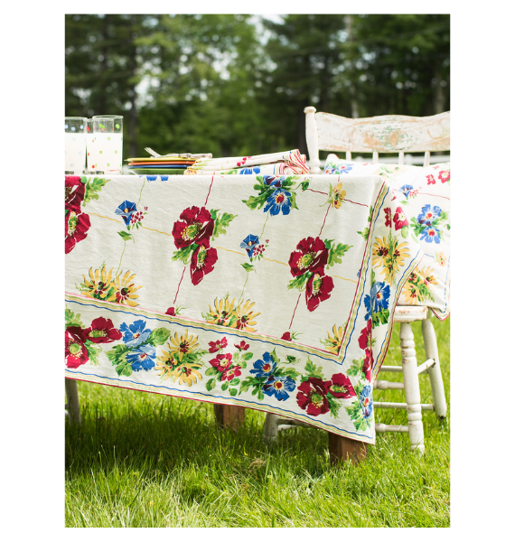 TPPOPK POPPY PATCHWORK TABLECLOTH