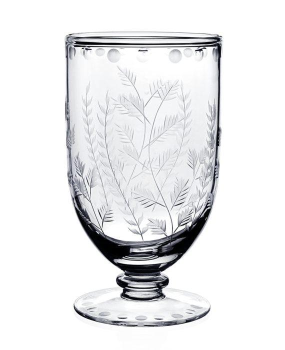 fern footed vase w