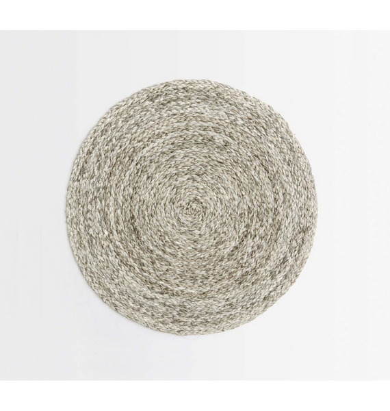 ZOEY MIXED GRAY ROUND PLACEMAT