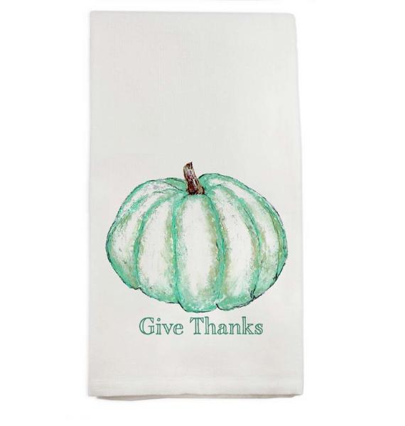 D GIVE THANKS PUMPKIN TOWEL