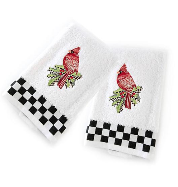 CARDINAL HAND TOWELS SET OF