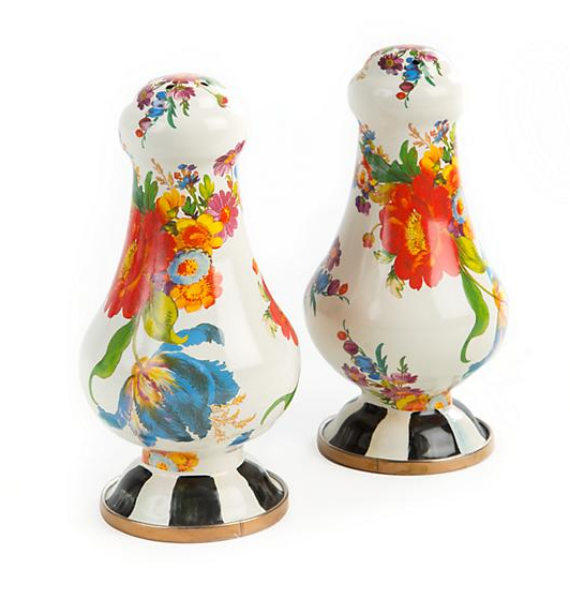FLOWER MARKET LARGE SALT AND PEPPER SHAKERS