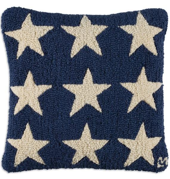 BLUEFIRESTARS BLUE STARS PILLOW