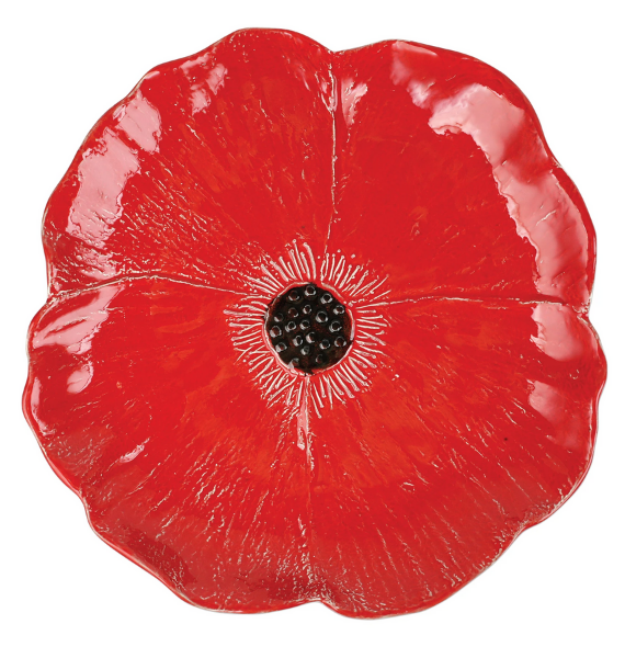 LPY F LARGE POPPY FIGURATIVE SERVING BOWL