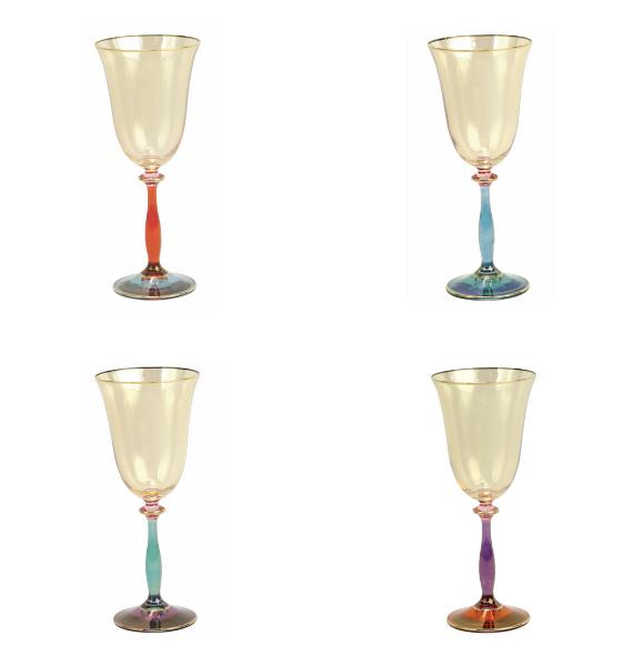 RDE B R G P ALL REGALIA DECO WINE GLASSES