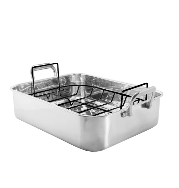 SL RKC STAINLESS STEEL ROASTER W NONSTICK RACK